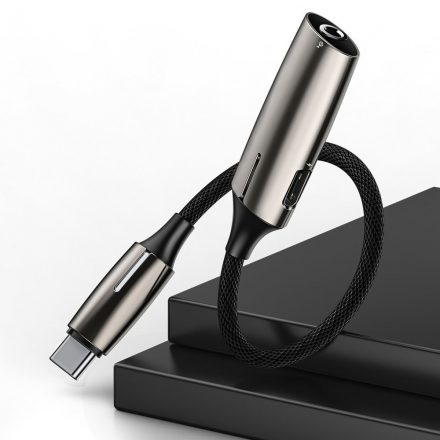 Baseus L60 audio adapter Type C / Type C és jack 3,5 mm (CATL60-0A), fekete