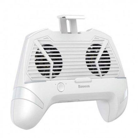 Baseus Gamepad Dokkoló (ACSR-CW02) okostelefonokhoz, 1200 mAh-s akkumulátor, hűtőventillátor, Fehér