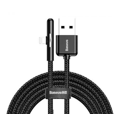 Baseus Game Elbow (CAL7C-B01) iPhone Lightning kábel, 1.5A, 2 méter, fekete