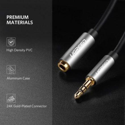 Ugreen 3.5mm Apa 3.5mm anya hosszabbító kábel 2m (fekete)