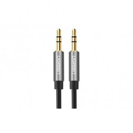 Ugreen 3,5mm-3,5mm audió kábel, 2m hosszú, fekete/ezüst