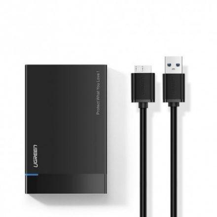 Ugreen külső HDD tartó ( HDD SSD housing case) SATA 2,5'' USB 3.2 Gen 1 (5 Gbps) micro USB SuperSpeed + fekete kábel (US221 3084