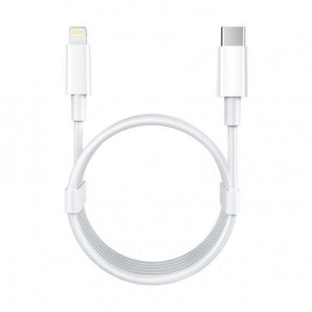 Remax USB-C-Lighting telefon töltőkábel(1m), 18W, (RC-135L), Fehér