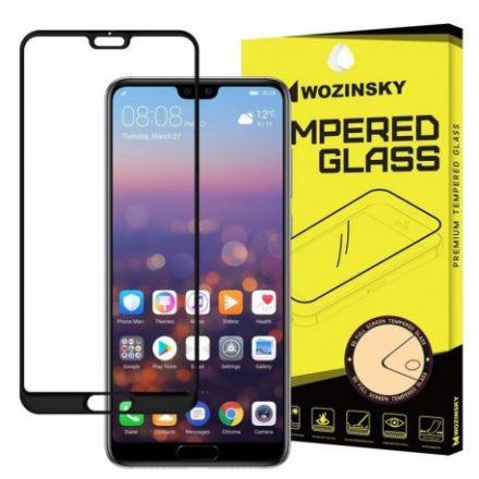 Huawei P20 Pro Wozinsky Full Glue Super Tough teljes kijelzős üvegfólia, fekete kerettel