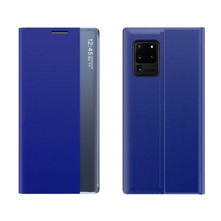 Samsung Galaxy Note 20 Ultra Sleep Case elegáns műanyag telefontok interaktív előlappal, kék