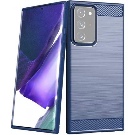 Samsung Galaxy Note 20 Ultra Carbon Case karbonmintás szilikon telefontok, Sötétkék