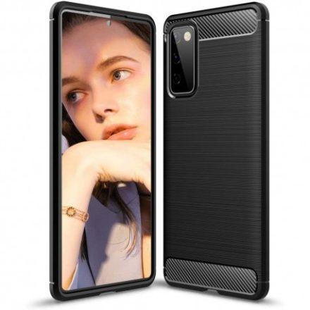 Samsung Galaxy S20 FE Carbon Case karbonmintás szilikon telefontok, Fekete