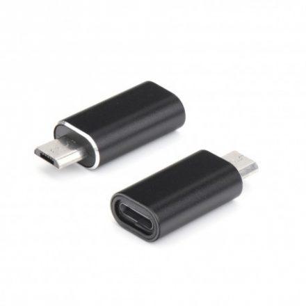 Micro USB -> Lighting átalakító, fekete