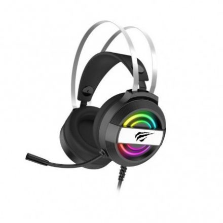 Havit Gamenote H2026d RGB gamer fejhallgató, 3.5mm jack + USB csatlakozóval, fekete