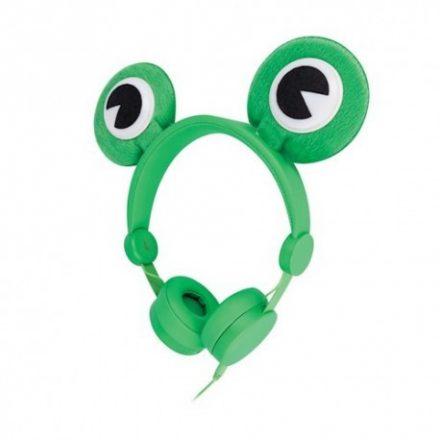 Setty Froggy vezetékes sztereó fejhallgató zöld békás